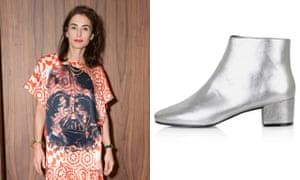 Tiffany & Co design director Francesca Amfitheatrof; Topshop's silver boots