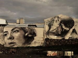 street art in Reykjavík  based on Jean Paul Sartre's No Exit