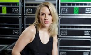 Ellie Goulding backstage before a show