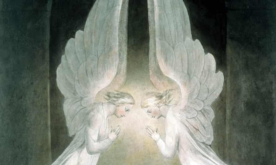 The Angels Hovering Over the Body of Jesus in the Sepulchre, by William Blake
