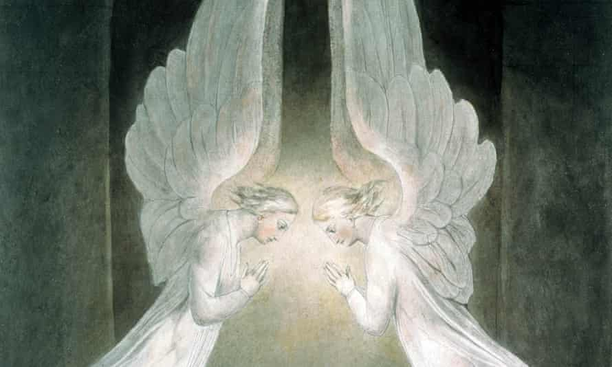 A detail from William Blake's The Angels Hovering Over the Body of Jesus in the Sepulchre.