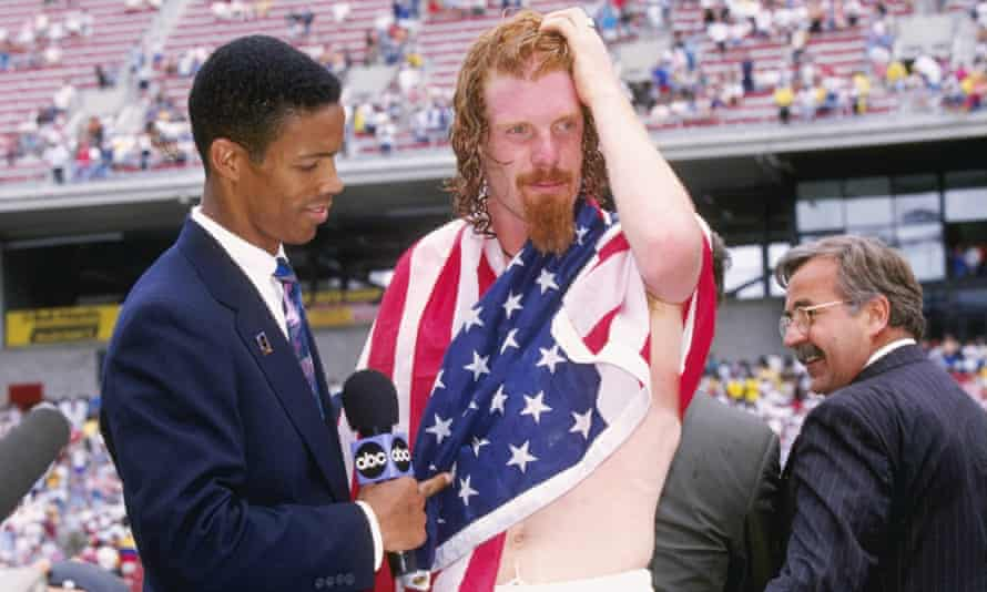 Alexi Lalas, pictured in a pre-Copa warm up in 1995, scored USA's second goal against Argentina