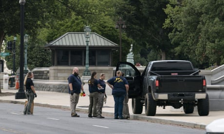 Roseberry drove a black pickup truck onto the sidewalk outside the Library of Congress around 9.15am on Thursday and allegedly began shouting about a bomb.