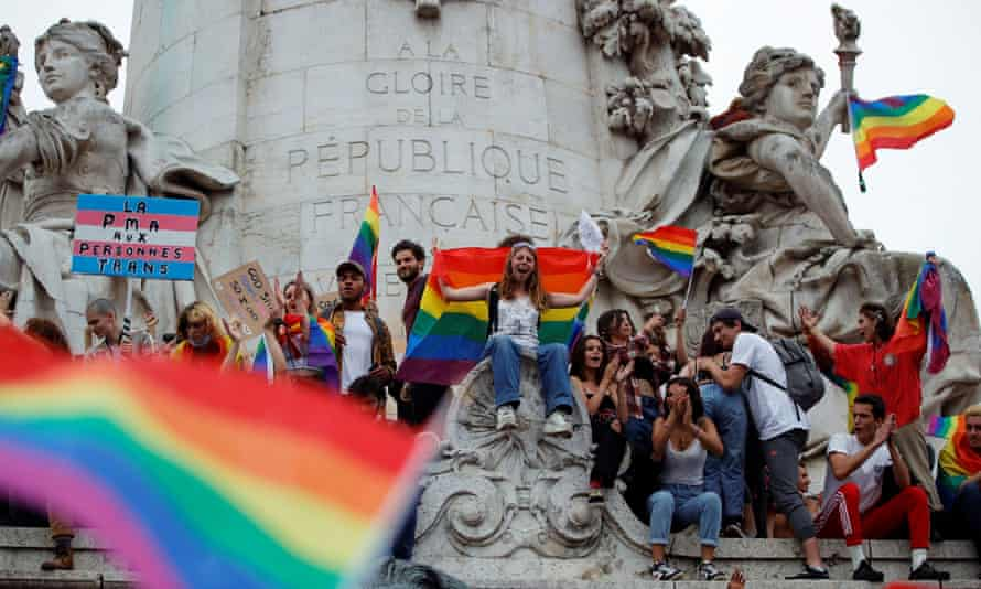 LGBTQ Pride march in Paris