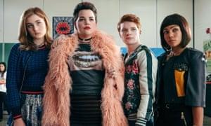 Axed TV series Heathers... (from left): Grace Victoria Cox, Melanie Elainie Field, Brendan Scannell and Jasmine Mathews.
