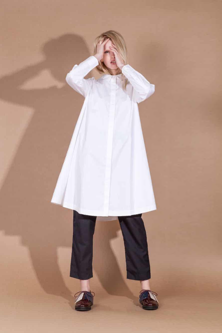 A shirt-dress by Alpha60, a boutique fashion label in Melbourne, Australia. Think gallery curator...