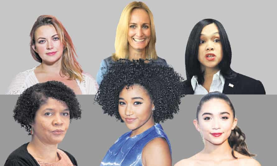 Clockwise from top left, Charlotte Church, Clare Moseley, Marilyn Mosby, Chi Onwurah, Amandla Stenberg and Rowan Blanchard.