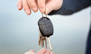 Handing over car and house keys