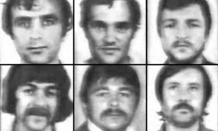 The 'Croatian Six' – Max Bebic, Vic Brajkovic, Tony Zvirotic, Joe Kokotovic, Ilija Kokotovic and Mile Nekic
