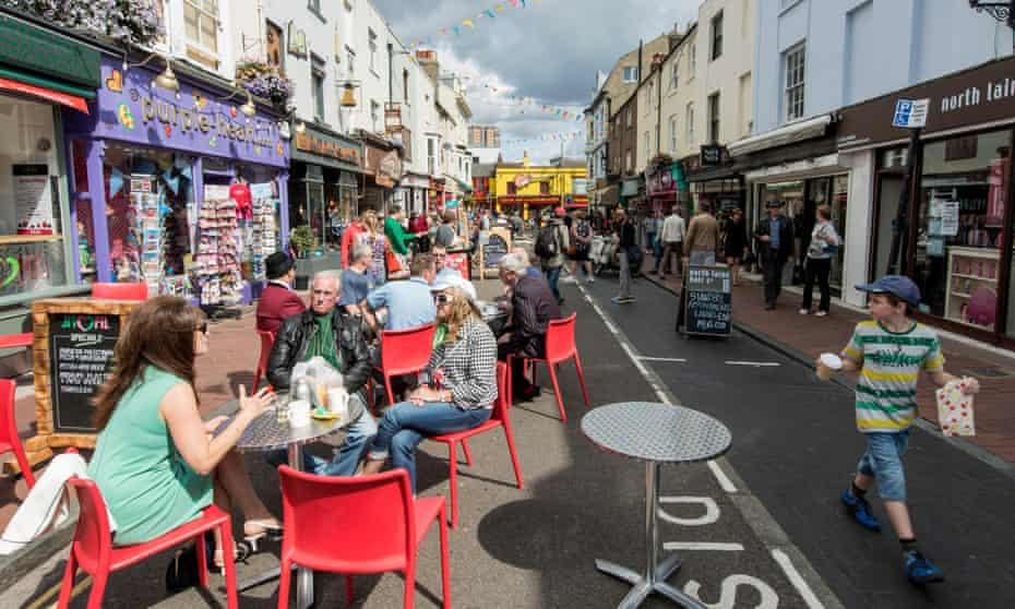 The pedestrian-focused North Laine area of Brighton.