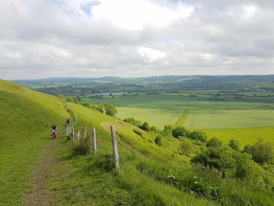 'The first day was a test of endurance, a blur of 60 hot miles from Swanage to Shillingstone.'