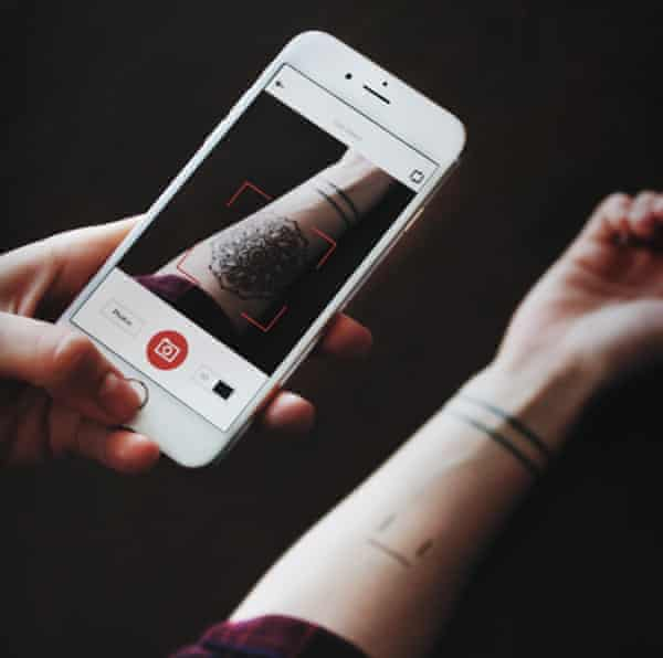 The Inkhunter app lets you visualise how a tattoo might look.