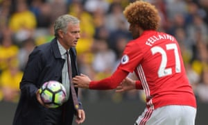 José Mourinho and Marouane Fellaini