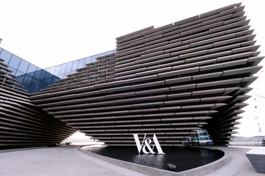 'Powerful moments': the £80m V&A Dundee, inspired, says Tokyo-based architect Kengo Kuma, 'by  Scottish cliffs'.