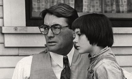 Mary Badham with Gregory Peck in To Kill a Mockingbird.