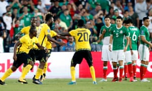 Kemar Lawrence (20) celebrates his winner against Mexico