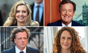 Former Mirror and News UK editors who were targeted in the phone-hacking investigations (clockwise, from top left): Tina Weaver, Piers Morgan, Rebekah Brooks and Richard Wallace.