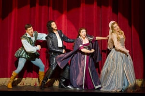 Kiss Me Kate (from left) Ashley Day, Quirijn de Lang, Jeni Bern and Tiffany Graves