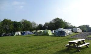 Aeron View Camping, campsite at Blaenpennal, Aberystwyth, Wales.