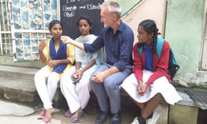 Rory Truell talks to young women in Lakshman Rao Nagar near Bengaluru in India, whose lives have been improved immensely by an eight-year social work programme.