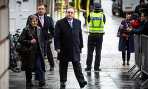 Alex Salmond arriving at Edinburgh high court