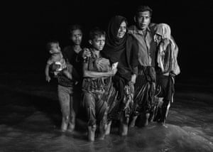 The refugee population is expected to swell further, with thousands more Rohingya Muslims said to be making the perilous journey on foot toward the border, or paying smugglers to take them across by water