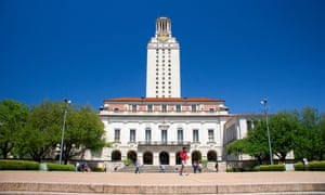 Clock tower on the University of Texas campus in Austin.