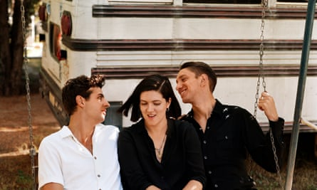 the xx (from left: Jamie Smith, Romy Madley-Croft and Oliver Sim)
