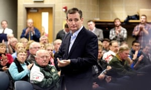 Ted Cruz campaigns in Sioux City at Briar Cliff University, a private Catholic school.