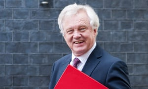 David Davis leaving a Brexit cabinet committee meeting at 10 Downing Street last May.