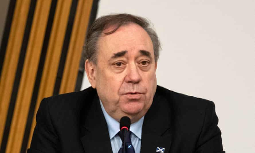 Former first minister Alex Salmond makes his opening statement to the Scottish Parliament Harassment committee, which examined the handling of harassment allegations him, at Holyrood in Edinburgh on 26 Feb.
