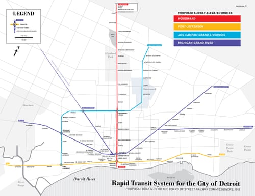 Mapped: historical public transit systems v their modern equivalents on