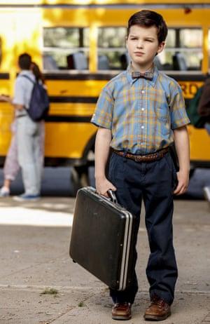 Iain Armitage as Sheldon Cooper in Young Sheldon.