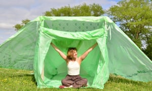 Living In A Box The Cardboard And Bioplastic Tents