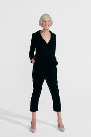 black velevet jumpsuit, New Look, pale grey shoes H&M