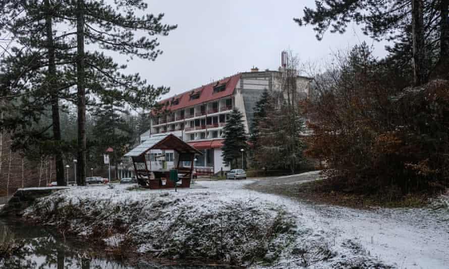 Vilina Vlas hotel in Visegrad, Bosnia, scene of many war crimes in 1992.