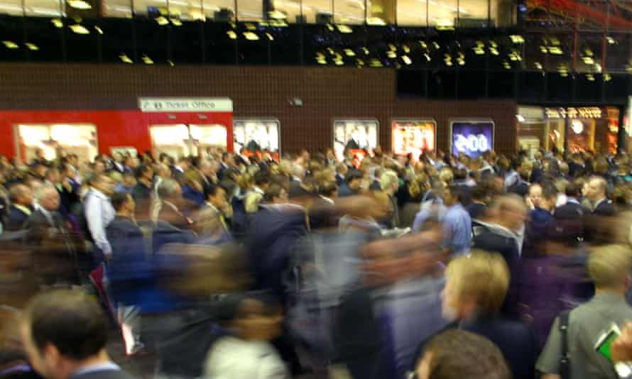 Commuters at London Bridge station