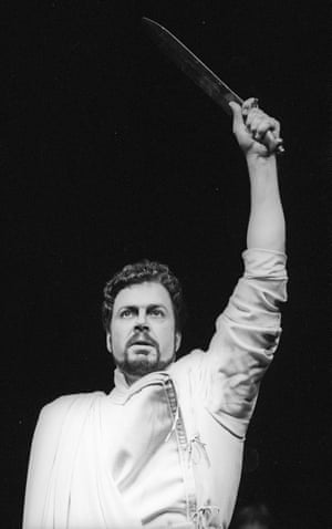 Roger Allam as Brutus in Julius Caesar, directed by Terry Hands at the Barbican, 1988.