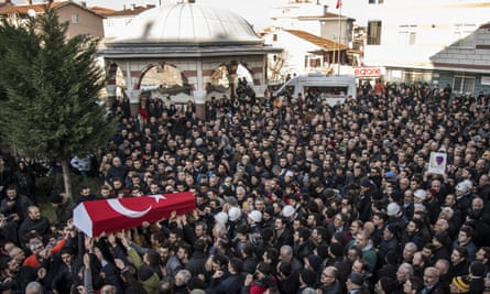 funeral of Yunus Gormek, one of the victims of the Reina nightclub attack