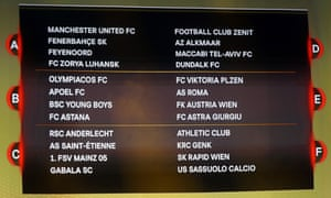 Manchester United and Southampton have been handed tricky draws in the Europa League group stage.