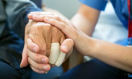 a nurse and patient