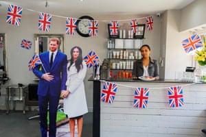 A royal wedding celebration at a hair salon in Urmston, Manchester