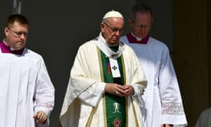 Pope Francis gave an open-air mass in Santiago, Chile, in January.