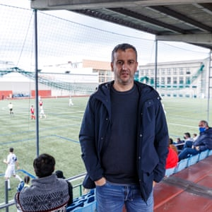 Former Deportivo La Coruña captain, Fran González, now head of the club's youth system. He is one of around 120 at Silva's game in Coruña.