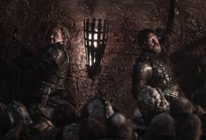They fought fiercely back-to-back ... Brienne and Jaime.
