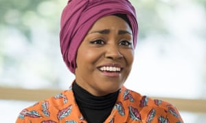 Great British Bake Off champion Nadiya Hussain takes fifth place.