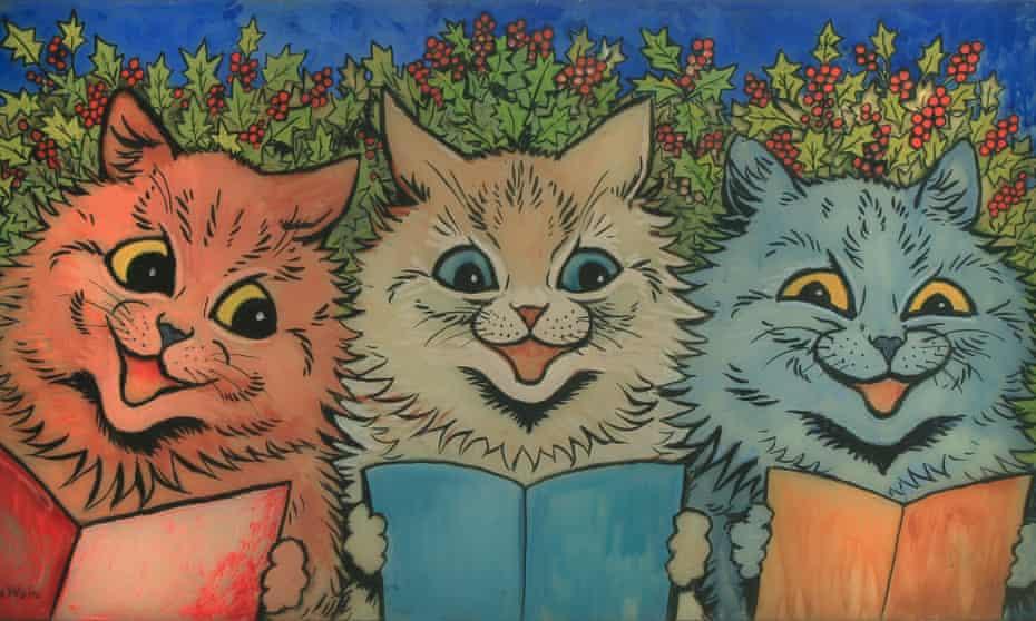 Carol Singing Cats by Louis Wain