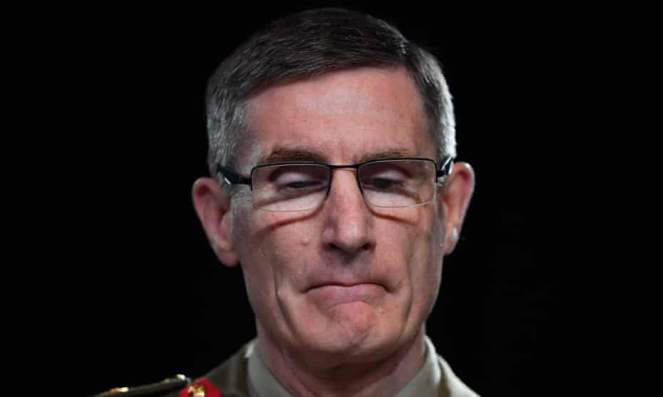 Chief of the Australian Defence Force (ADF) General Angus Campbell delivers the findings of the Brereton report on Thursday.