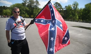 jim barry with confederate flag