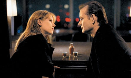 Murray with Scarlett Johansson in Lost in Translation.